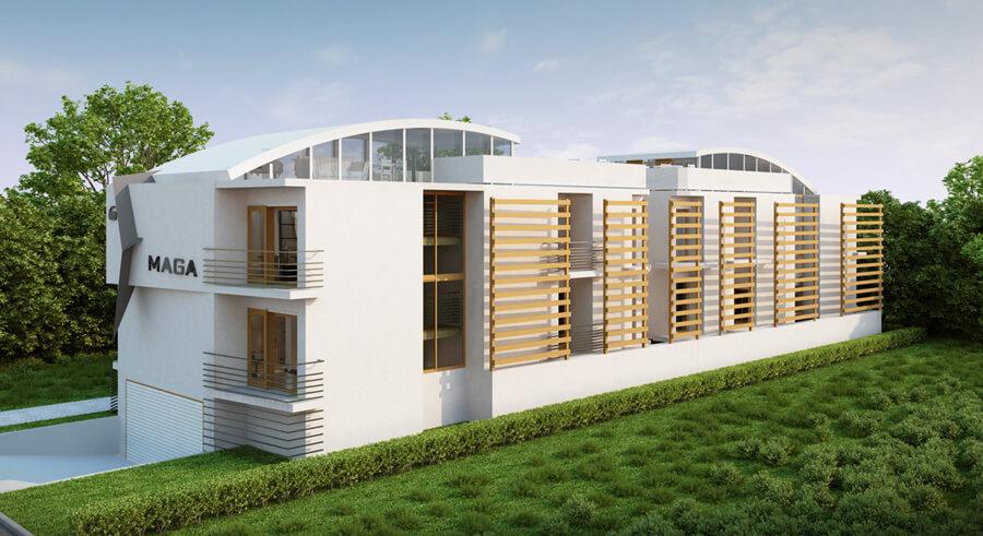 Projekt budynku biurowego od poznańskiego biura projektowego
